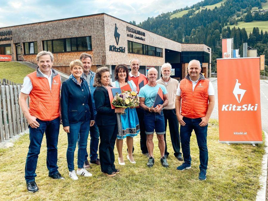 KitzSki ehrte seine langjährigen Mitarbeiterinnen und Mitarbeiter